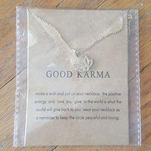 Good Karma lotus Necklace yoga